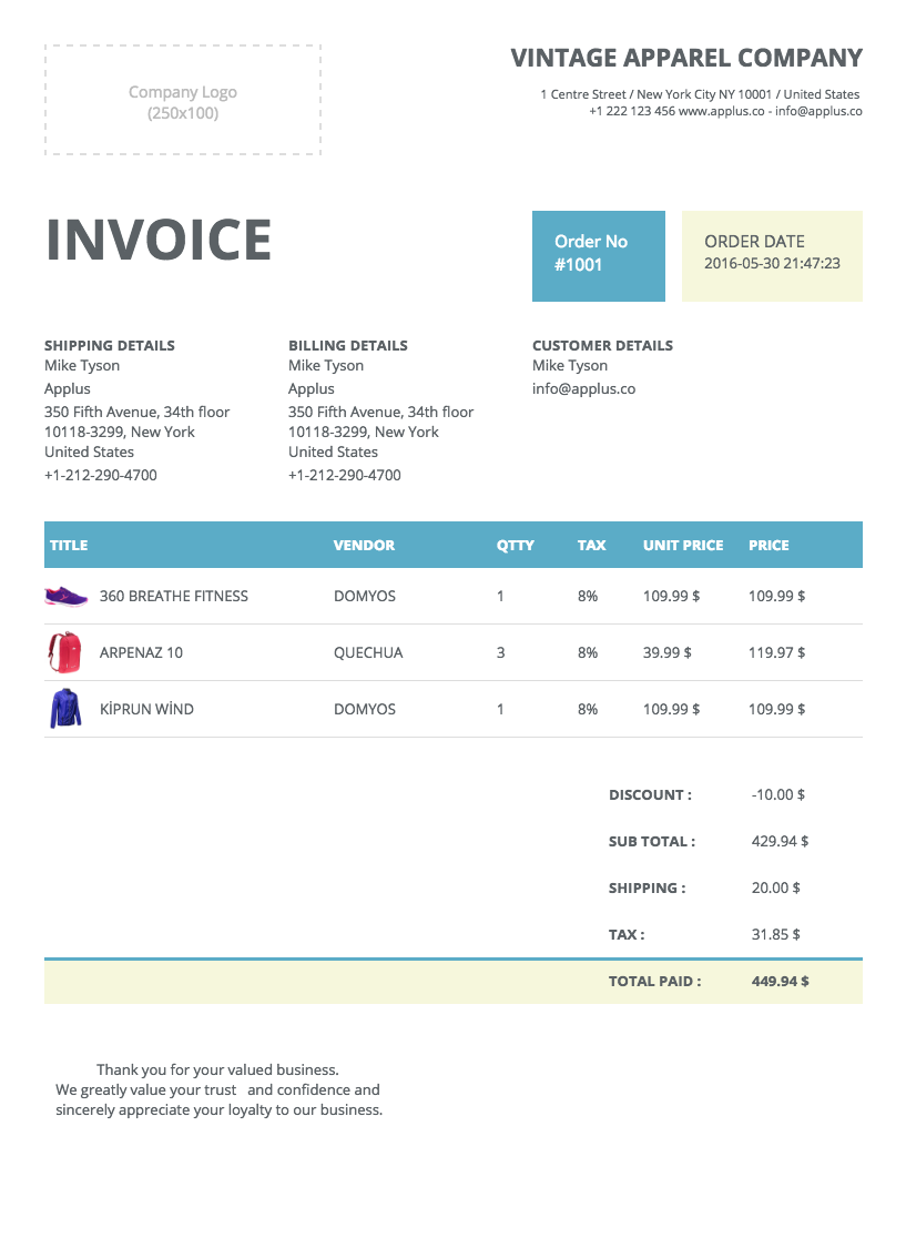 premium shopify apps easy invoice invoice template view details
