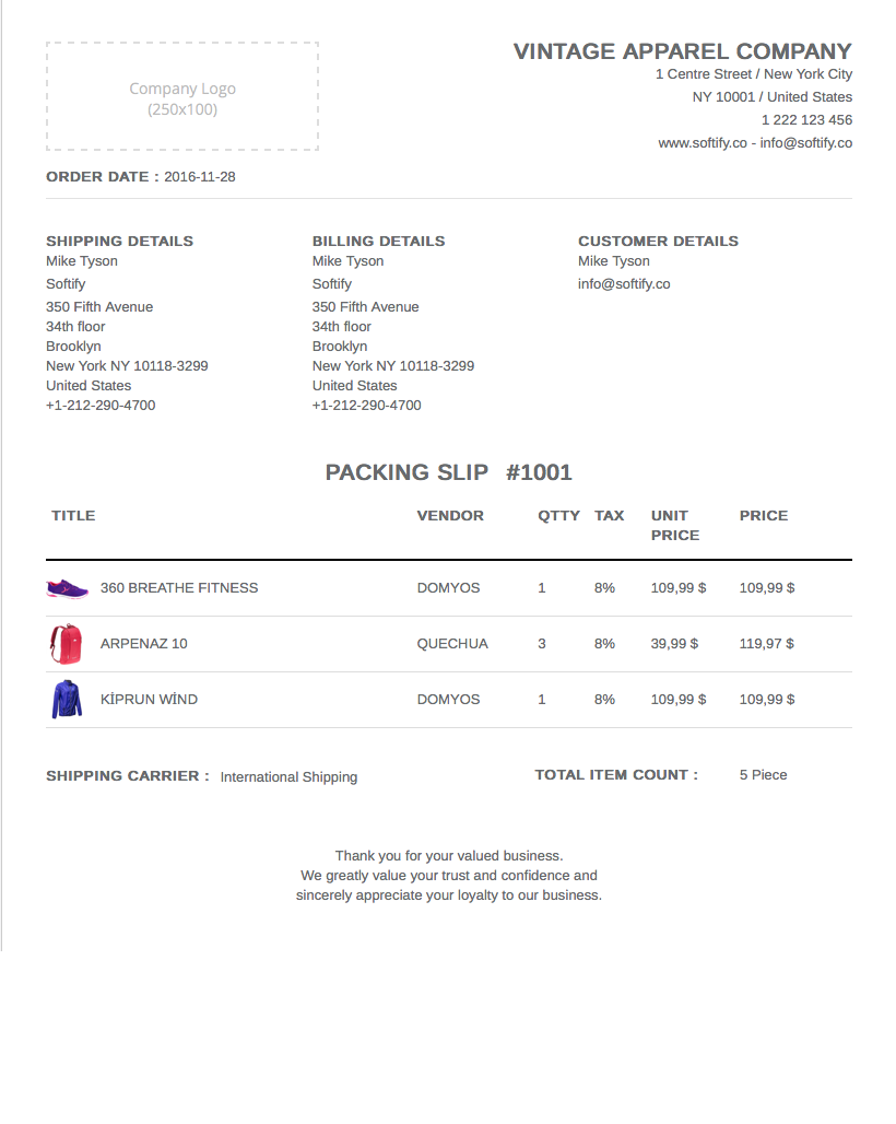 premium shopify apps easy invoice packing slip view details