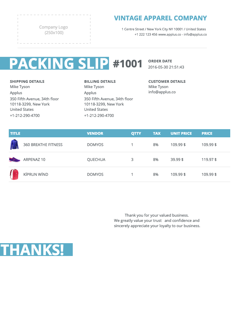 Softify Premium Shopify Apps Easy Invoice – Shipping Slip Template